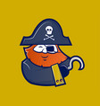 pirate mascot character vector image vector image