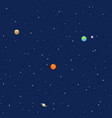 Planets in space solar system background