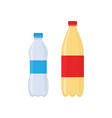 plastic bottles water icon flat style vector image