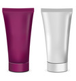 plastic or metal realistic 3d cream tubes white a vector image vector image