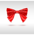 Red bow of triangles Geometric vector image vector image