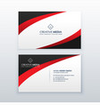 red business card design with wave effect vector image vector image