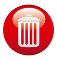 red can trash emblem icon vector image vector image