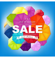 Sale Poster With Color Umbrellas vector image vector image