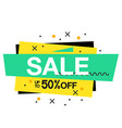 sale up to 50 off square frame background vector image vector image