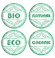 scratched eco stamps vector image vector image