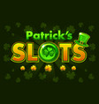 screen logo slots banner casino slots banner of vector image vector image
