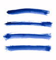 set of blue indigo watercolor stripes vector image vector image