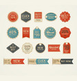 set of retro vintage badges and labels design vector image vector image