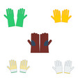 set of safety gloves for industrial construction vector image vector image