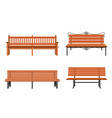 set of various garden and city benches vector image