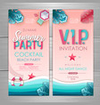 summer party poster design disco party invitation vector image vector image