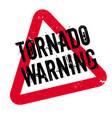 tornado warning rubber stamp vector image vector image