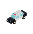 transport police car vehicle isometric icon vector image vector image