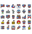 united state independence day filled icon set vector image vector image