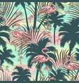 vintage tropical colorful seamless pattern vector image