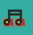 vinyl player turntable icon dj music concept vector image