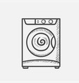 washing machine hand drawn sketch icon vector image