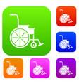 wheelchair set collection vector image vector image