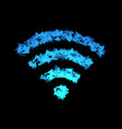 wireless icon is made of triangles vector image