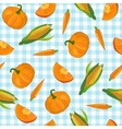 Colorful Vegetables Pattern vector image