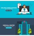 Online doctor Online consultation Ask doctor vector image