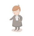 Cartoon of lawyer vector image