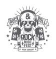 Rock festival flyer vector image