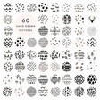 60 hand drawn doodle patterns collection vector image