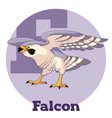 abc cartoon falcon vector image vector image