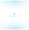 abstract blue halftone design concept background vector image vector image
