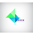 abstract colorful triangles modern 3d vector image vector image