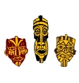 Ancient masks vector image