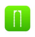 arch icon digital green vector image vector image