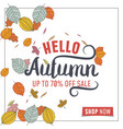 autumn leaves abstract background vector image vector image
