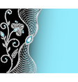 background frame with jewels vector image vector image