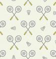Badminton Pattern vector image vector image