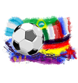 ball and flags vector image vector image
