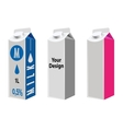 Blank Milk And Juice Carton Packages vector image
