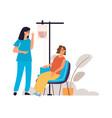 blood donation woman donates blood plasma vector image