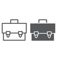 Briefcase line and glyph icon bag and suitcase