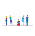 business team analyzing results - flat design vector image vector image