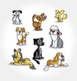 Cartoon dogs collection vector | Price: 1 Credit (USD $1)