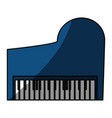 classic piano instrument vector image vector image