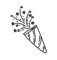 confetti icon doddle hand drawn or black outline vector image