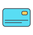 credit card line icon simple minimal 96x96 vector image vector image