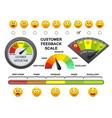 customer feedback scale flat vector image