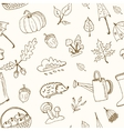 cute hand drawn autumn seamless pattern vector image vector image