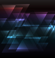 dark rainbow abstract triangle overlap background vector image
