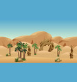 desert landscape background scene for cartoon vector image vector image